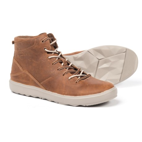 Merrell Around Town Mid Sneakers - Leather (For Women) in Brown Sugar