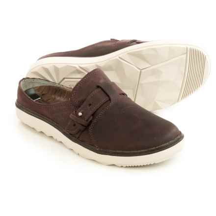 Merrell Around Town Shoes - Leather, Slip-Ons (For Women) in Huckleberry - Closeouts