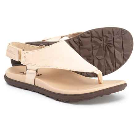 184ee13b5f8533 Merrell Around Town Sunvue Post Sandals - Leather (For Women) in Sandstone
