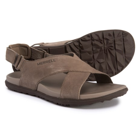 26f0553b7 Merrell Around Town Sunvue Strap Sandals - Leather (For Women) in Merrell  Stone