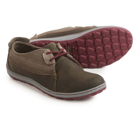 Merrell Ashland Lace Shoes - Leather (For Women) in Bungee Cord