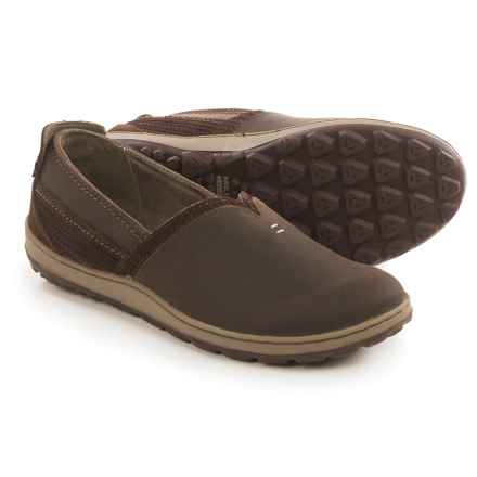 Merrell Ashland Leather Shoes - Slip-Ons (For Women) in Coffee Bean - Closeouts