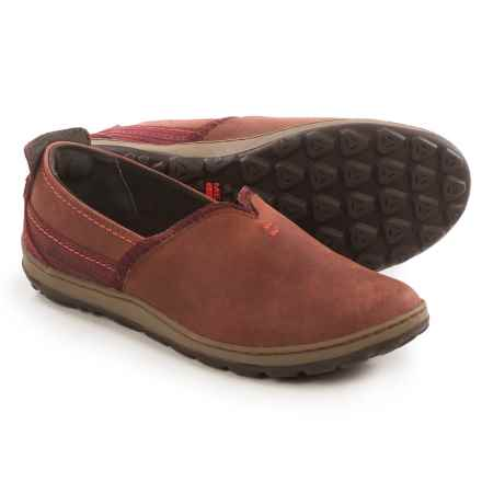 Merrell Ashland Leather Shoes - Slip-Ons (For Women) in Red Ochre - Closeouts