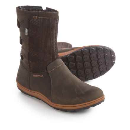 Merrell Ashland Vee Rain Boots - Waterproof, Leather (For Women) in Seal Brown - Closeouts