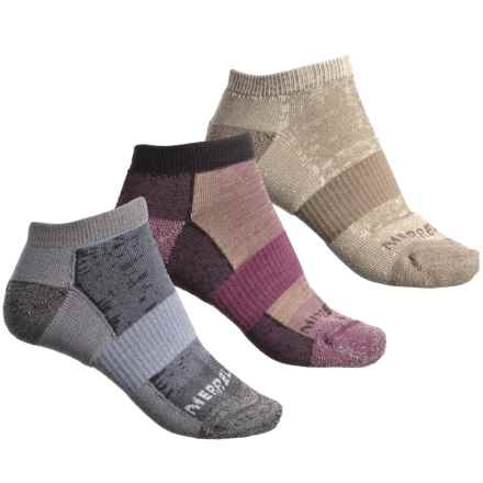 Merrell Athletic Cushioned Hiking Socks - 3-Pack, Below the Ankle (For Women) in Amaranth - Closeouts