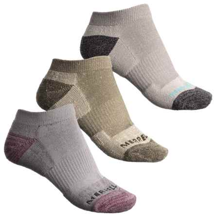 Merrell Athletic Cushioned Hiking Socks - 3-Pack, Below the Ankle (For Women) in Oatmeal - Closeouts