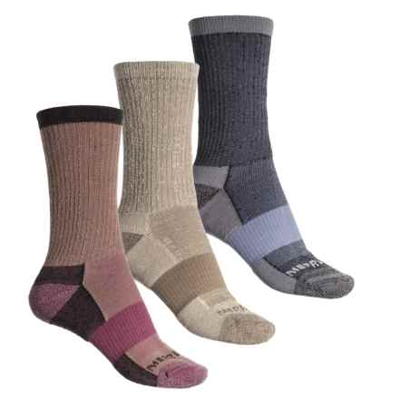 Merrell Athletic Cushioned Hiking Socks - 3-Pack, Crew (For Women) in Amaranth - Closeouts