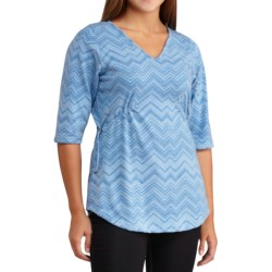 Merrell Awenda Tunic Shirt - Elbow Sleeve (For Women) in Deep Water