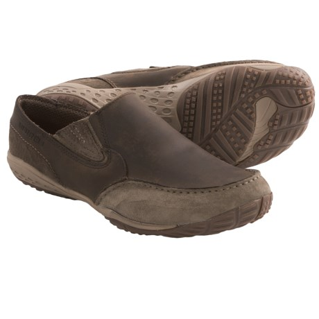Merrell Barefoot Life Radius Glove Shoes - Minimalist, Leather, Slip-Ons (For Men) in Boulder