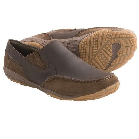Merrell Barefoot Life Radius Glove Shoes - Minimalist, Leather, Slip-Ons (For Men) in Chocolate