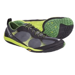 Merrell Barefoot Road Glove Running Shoes - Minimalist (For Men) in Black/Lime Zest