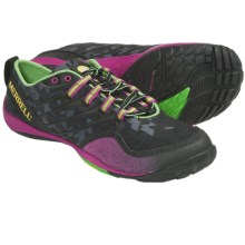 Merrell Barefoot Trail Lithe Glove Running Shoes - Minimalist (For Women) in Black - Closeouts