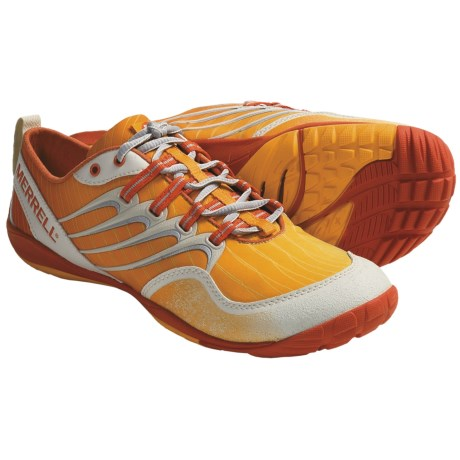 Merrell Barefoot Trail Lithe Glove Running Shoes - Minimalist (For Women) in Cosmo Orange
