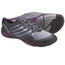 Merrell Barefoot Trail Lithe Glove Running Shoes - Minimalist (For Women) in Dark Shadow - Closeouts