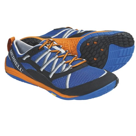 Merrell Barefoot Train Flux Glove Running Shoes (For Men) in Apollo/Vibrant Orange