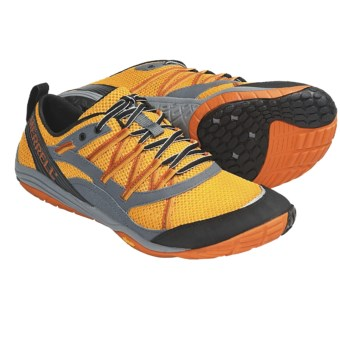 Merrell Barefoot Train Flux Glove Running Shoes (For Men) in Saffron/Castle Rock