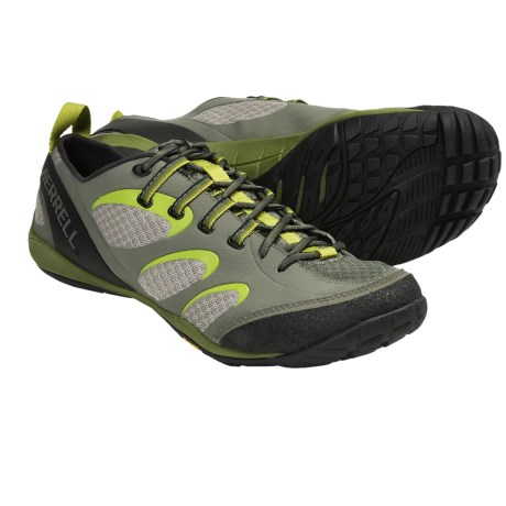 Merrell Barefoot Train True Glove Shoes - Minimalist (For Men) in Dusty Olive/Amazon