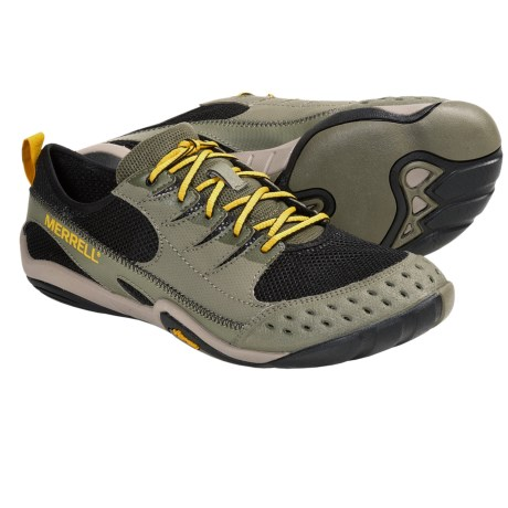 Merrell Barefoot Water Current Glove Water Shoes - Minimalist (For Men) in Ice/Castle Rock