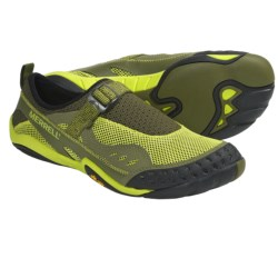 Merrell Barefoot Water Rapid Glove Water Shoes (For Men) in Moss/Lime Zest