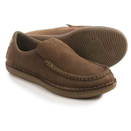Merrell Bask Moc Shoes - Leather, Slip-Ons (For Men) in Moss - Closeouts