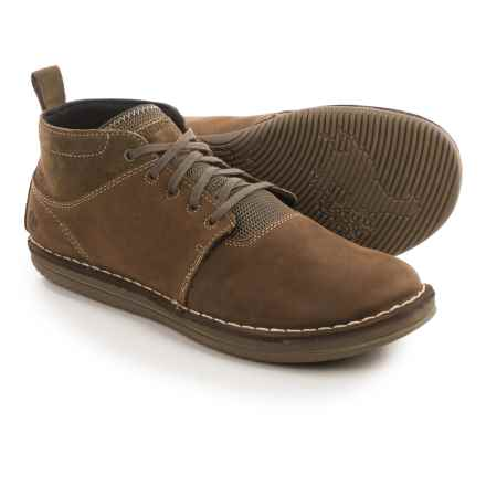 Merrell Bask Sol Mid Chukka Boots - Leather (For Men) in Moss - Closeouts