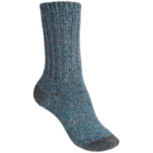 Merrell Beckontree Ragg Hiking Socks - Wool Blend (For Women) in Charcoal/Open Blue Heather - Closeouts
