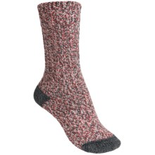 Merrell Beckontree Ragg Hiking Socks - Wool Blend (For Women) in Natural/Hibiscus Heather - Closeouts