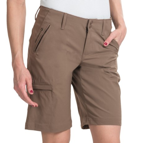 Merrell Belay Opti-Wick® Shorts - UPF 50+ (For Women) in Taupe