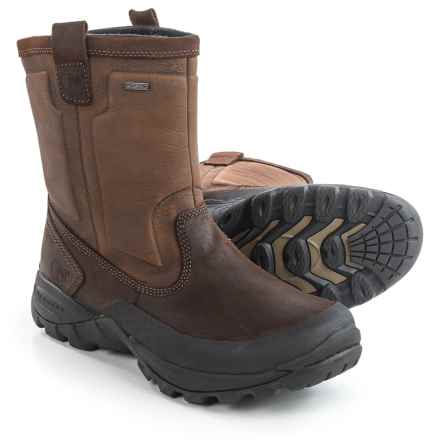 Merrell Bergenz Winter Boots - Waterproof, Insulated (For Men) in Brown/Stone - Closeouts
