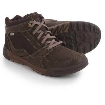 Merrell Berner Mid Boots - Waterproof, Leather (For Men) in Expresso - Closeouts