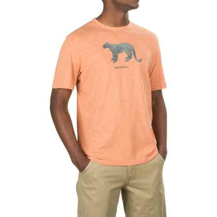 Merrell Big Cat Graphic T-Shirt - Short Sleeve (For Men) in Burnt Orange Heather - Closeouts