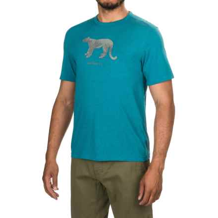 Merrell Big Cat Graphic T-Shirt - Short Sleeve (For Men) in Celestial Heather - Closeouts