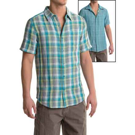 Merrell Breezeway Reversible Shirt 2.0 - Short Sleeve (For Men) in Opaline Green Celery - Closeouts