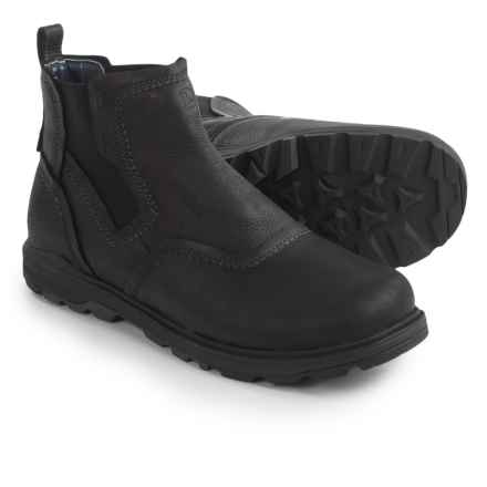 Merrell Brevard Chelsea Boots - Nubuck (For Men) in Black - Closeouts