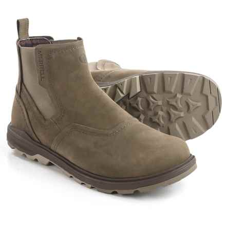 Merrell Brevard Chelsea Boots - Nubuck (For Men) in Brindle - Closeouts
