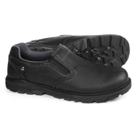 Merrell Brevard Moc Shoes - Leather, Slip-Ons (For Men) in Black - Closeouts