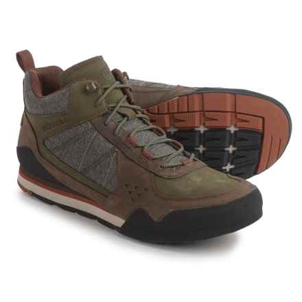 Merrell Burnt Rock Mid Boots (For Men) in Dusty Olive - Closeouts