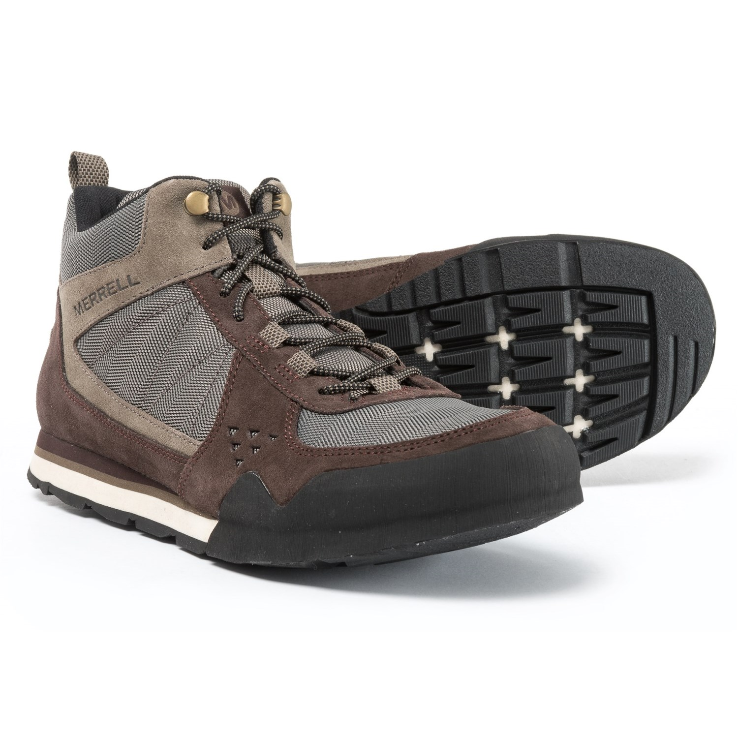 03e216d3413b Merrell Burnt Rock Mid Boots (For Men) in Woodland Brown
