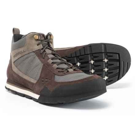 Merrell Burnt Rock Mid Boots (For Men) in Woodland Brown - Closeouts