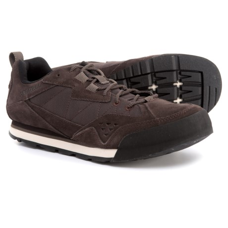 Merrell Burnt Rock Tura Rugged Casual Sneakers - Suede (For Men) in Espresso