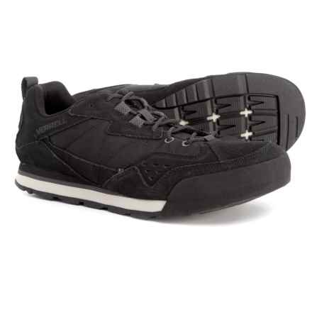 Merrell Burnt Rock Tura Rugged Casual Sneakers - Suede (For Men) in Jet Black - Closeouts