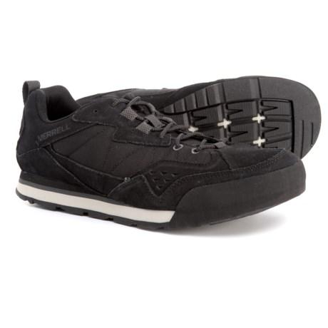 26dda9100697b Merrell Burnt Rock Tura Rugged Casual Sneakers - Suede (For Men) in Jet  Black