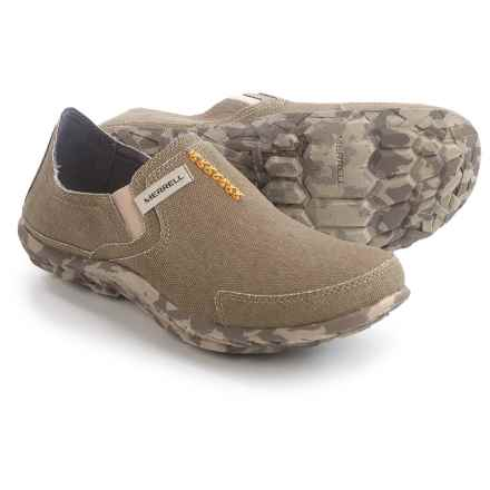 Merrell Canvas Slipper Shoes (For Men) in Sand - Closeouts