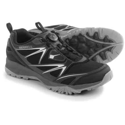Merrell Capra Bolt BOA® Trail Running Shoes (For Men) in Black - Closeouts