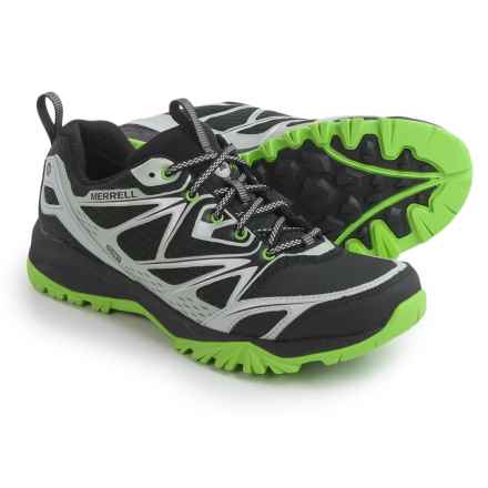 Merrell Capra Bolt Hiking Shoes - Waterproof (For Men) in Black/Silver - Closeouts