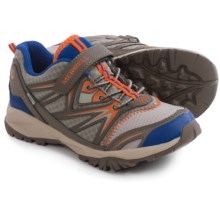 Merrell Capra Bolt Low A/C Sneaker - Waterproof, Leather (For Little and Big Boys) in Gunsmoke/Orange - Closeouts