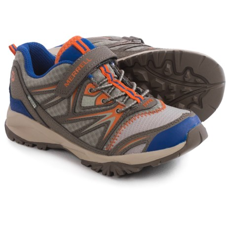 Merrell Capra Bolt Low A/C Sneaker Waterproof, Leather (For Little and Big Boys)