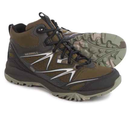 Merrell Capra Bolt Mid Hiking Boots - Waterproof (For Men) in Dark Olive - Closeouts