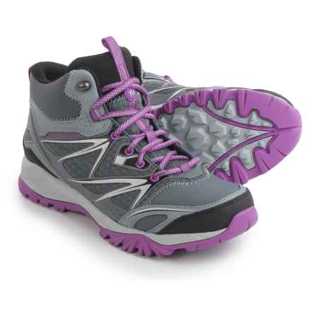 Merrell Capra Bolt Mid Hiking Boots - Waterproof (For Women) in Grey/Purple - Closeouts