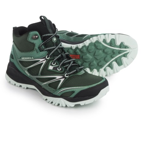 Merrell Capra Bolt Mid Hiking Boots - Waterproof (For Women) in Pine Grove